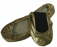 Foldable Flats in Gold by Ganz