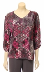 Print Top in Purple Multi by N Touch