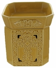 Radiant Fragrance Warmer Praise Cross in Gold by Tyler Candle Company