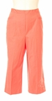 Solid Embroidered Capri in Mango by Alfred Dunner