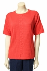 Solid Shell Sweater in Paprika by Alfred Dunner