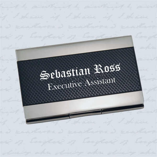 Carbon Fiber Stainless Steel Business Card Case Business