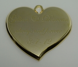 Gold Teardrop Heart Pendant