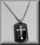Gunmetal Personalized Cross Necklace