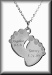 Mommy's Happy Feet Stainless Steel Necklace