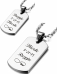 Personalized Stainless Steel Dog Tag Set Custom Engraved Free