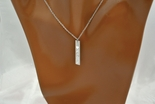 Personalized Vertical Monogram Name Bar Necklace With CZ