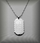 Silver Dog Tag Necklace Pendant
