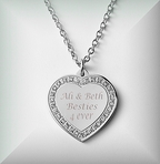 Silver Heart Cubic Zirconia Necklace