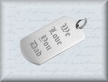 Small Stainless Steel Silver Dog Tag Necklace Pendant
