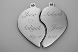 Stainless Steel Broken Heart Couple Necklace