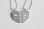 Stainless Steel Extra Small Broken Heart Necklace