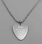 Stainless Steel Guitar Pick Necklace