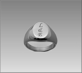 Stainless Steel Oval Signet Ring