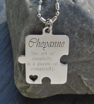 Stainless Steel Puzzle  Heart Necklace