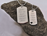 Stainless Steel Sweetheart Dog Tag Necklace