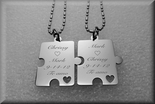Two Piece Silver Puzzle Pendants
