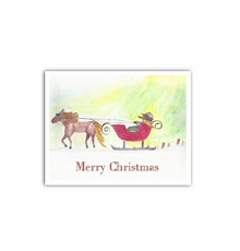 Sleigh Ride greeting cards