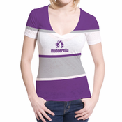 Mudderella Four Stripe Sublimated V-Neck Tee - Purple