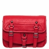 Ash Ace Womens Crossbody Handbag Red Textured Leather  125060 (600)