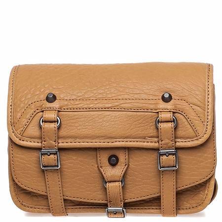 Ash Ace Womens Crossbody Bag Tan Textured Leather  125060 (262)