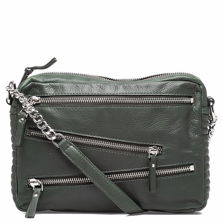 Ash Angel Womens Crossbody Handbag Army Green Leather  125081 (340)