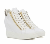 Ash  Atomic Womens Wedge Sneaker White Roccia Leather 350003 (118)