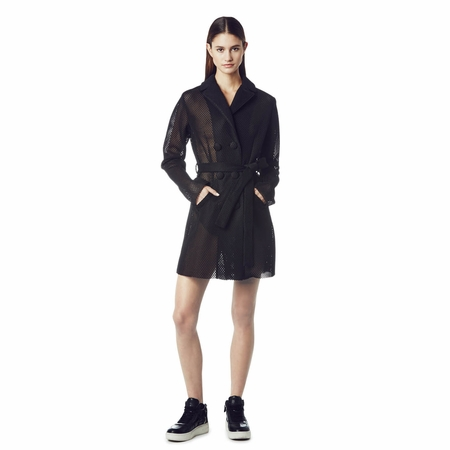 Ash Awesome Trench Coat Black Mesh 265005 (001)