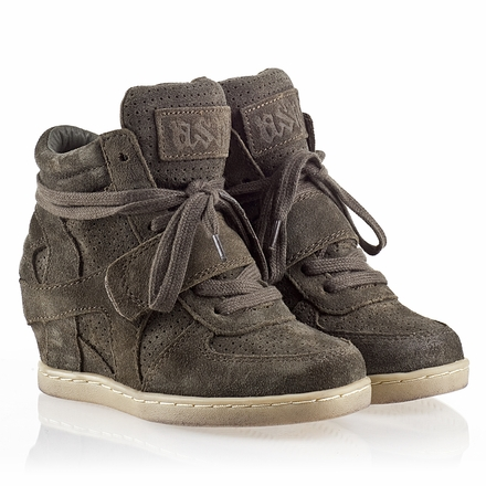Ash  Babe Kids Wedge Sneaker  Military  Suede 330505 (350)