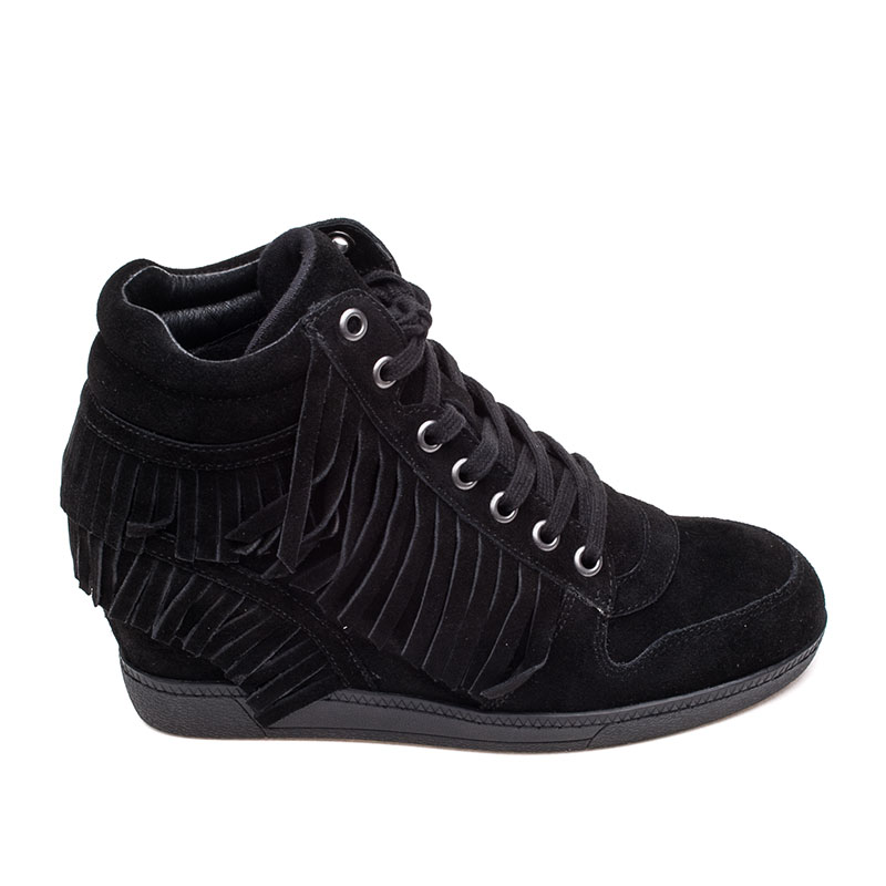 Ash Beatnik Wedge Sneaker Black Suede360350 (001)
