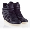 Ash  Beck Bis Womens Wedge Sneaker Black Leather 340072 (002)