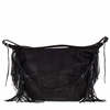 Ash Bo Womens Hobo Black Python Print Leather  124011 (001)