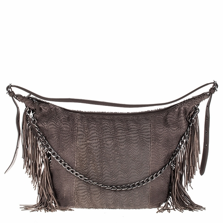 Ash Bo Womens Hobo Grey Leather  124007 (020)