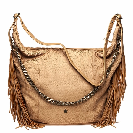 Ash Bo Womens Hobo Handbag Tan Leather  124007 (262)