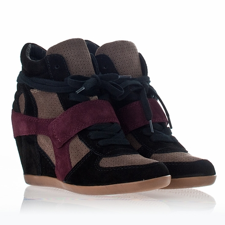 Ash  Bowie Wedge Sneaker Multi Prune Suede 312151 (Final Sale)
