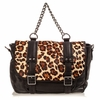 Ash Britt Womens Backpack Leopard Hair Calf 124083 (263)