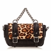 Ash Britt Womens Clutch Leopard Hair Calf 124084 (263)