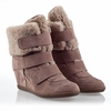 Ash  Brizz Womens Wedge Sneaker Taupe Suede 330517 (290)