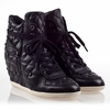 Ash  Brooklyn Womens Wedge Sneaker Black  Leather 330514 (001)