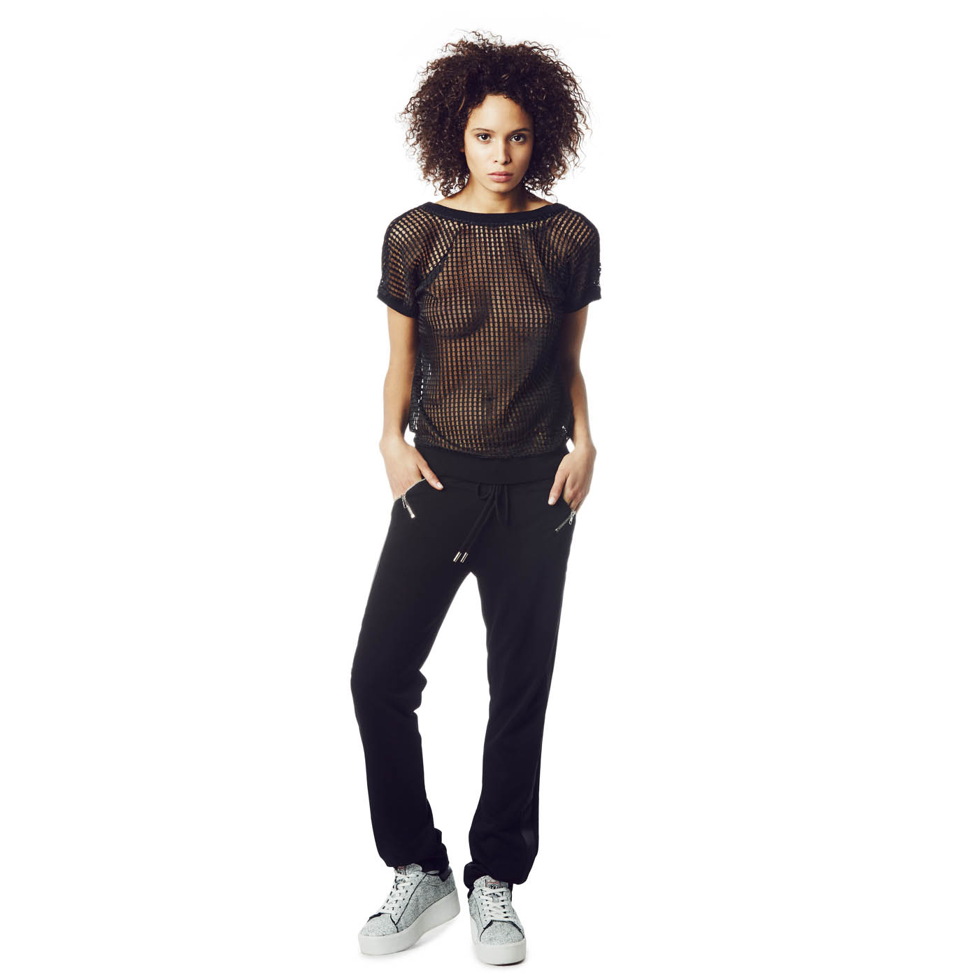 Ash Studio Paris  Century Top Black Mesh 265010 (001)