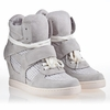 Ash  Cool Womens Wedge Sneaker Off White Mesh 340264 (119)