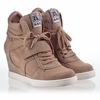Ash  Cool Womens Wedge Sneaker Chamois  Suede & Canvas 340089 (278)