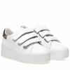 Ash  Cool Womens Wedge Sneaker White and Chestnut Leather 350313 (118)