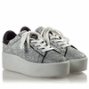 Ash Cult Womens Lace Up  Sneaker White & Black Snake Print Leather 350006 (124)
