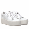 Ash Cult Womens Lace Up  Sneaker White  Reptile Print Leather 350360 (113)
