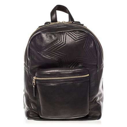 Ash Danica Star Womens Medium Backpack Black Perforated Leather  125032 (001)