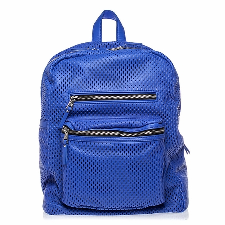 Ash Danica Womens Large Backpack Cobalt Perforated Leather  125035 (421)