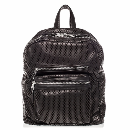 Ash Danica Womens Medium Backpack Black Perforated Leather  125034 (001)