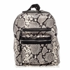 Ash Danica Womens Medium Backpack Natural & Black Snake Print Leather  125021 (101)
