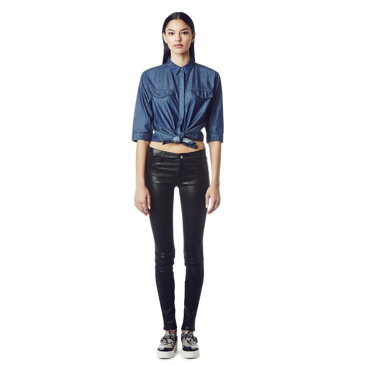 Ash Studio Paris  Day Dream Black Leather Pant 265014 (001)